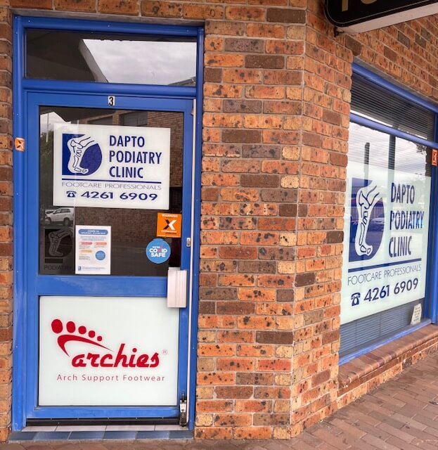 Dapto Podiatry Clinic Front Entrance is easily accessed from the parking on Baan Baan Street, Dapto